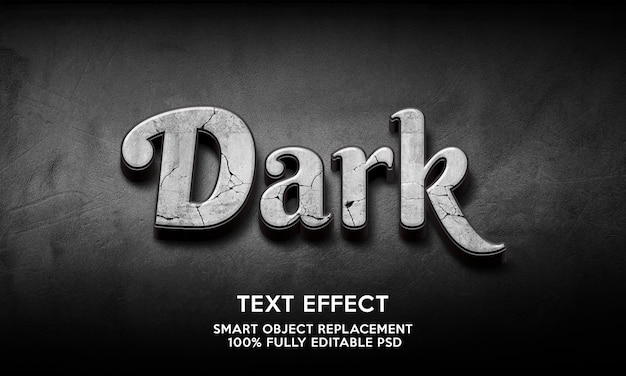 Modèle d'effet de texte sombre
