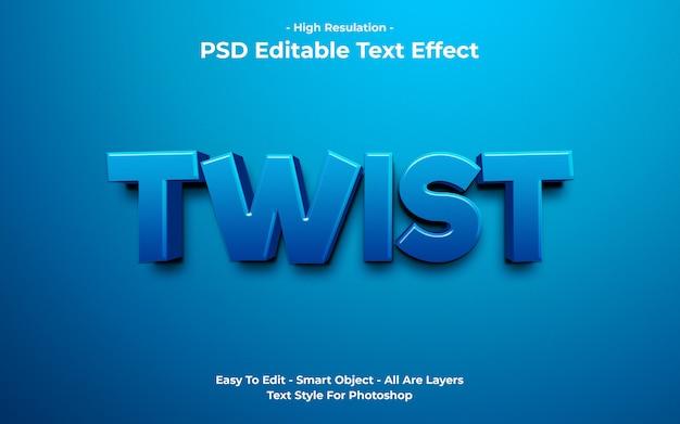 Modèle d'effet de texte torsadé
