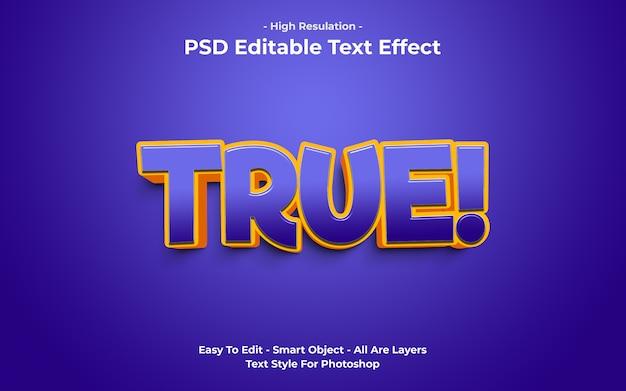 Modèle d'effet de texte véritable