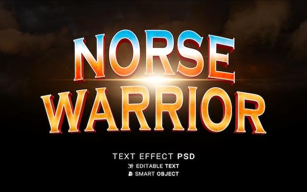 Modèle d'effet de texte vikings