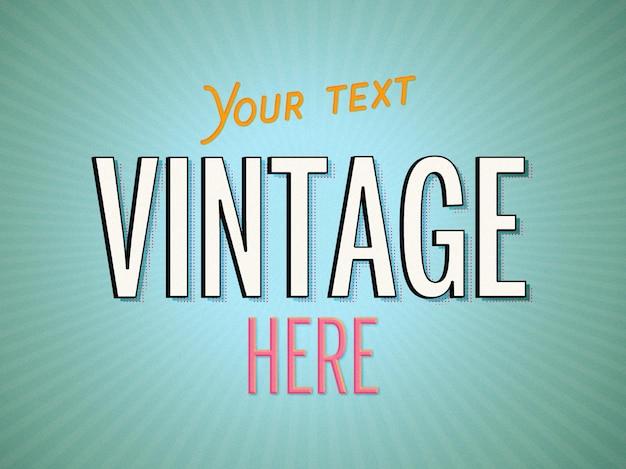 Modèle d'effet de texte vintage minimal