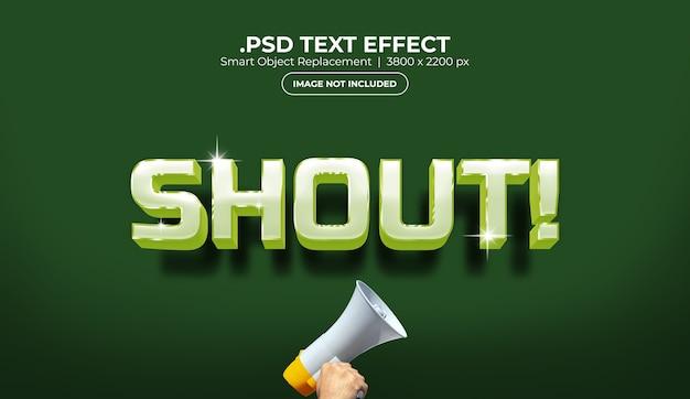 Modèle d'effet de texte
