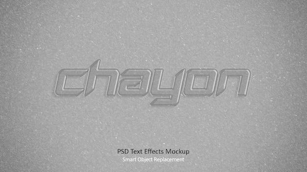 Modèle d'effets de texte 3d chayon