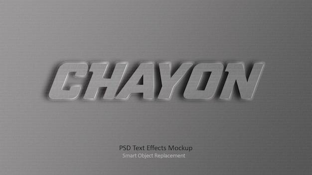 Modèle d'effets de texte hayon 3d
