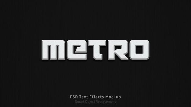 Modèle d'effets de texte metro 3d