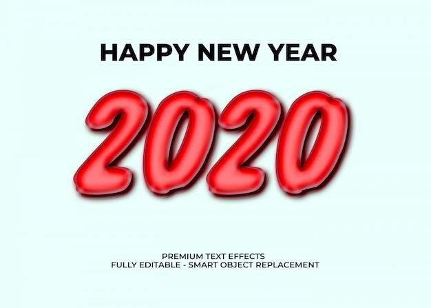 Modèle d'effets de texte premium 2020