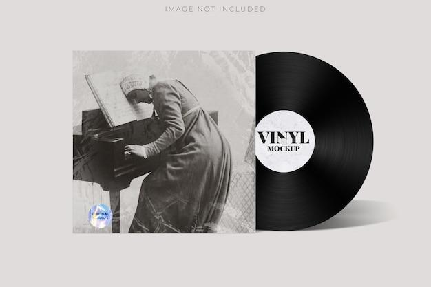 Modèle d'enveloppe de paquet de maquette de vinyle et de couverture de cd vierge mock u