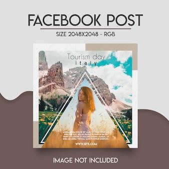 Modèle facebook de médias sociaux