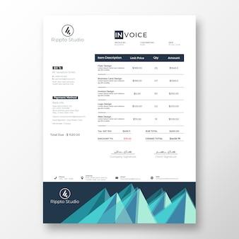 Modèle De Facture Moderne Créatif PSD Premium