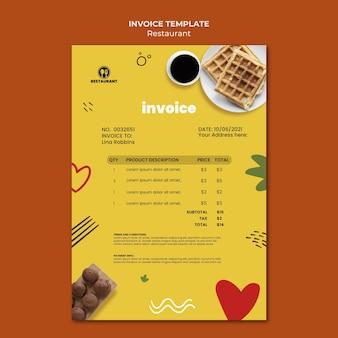 Modèle de facture de petit-déjeuner