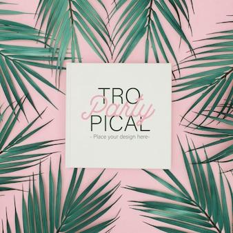 Modèle de fête tropicale