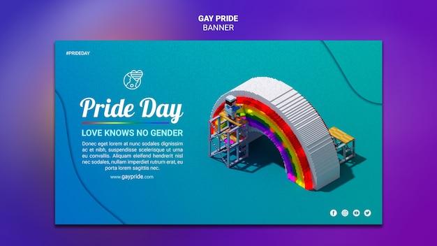 Modèle de fierté gay bannière colorée