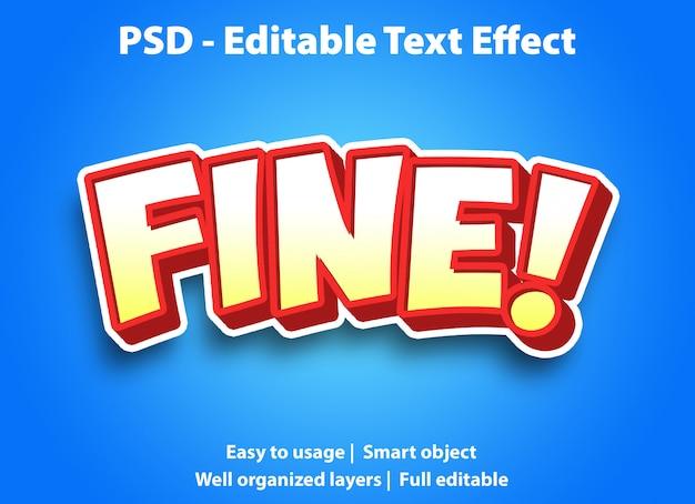 Modèle fin d'effet de texte modifiable