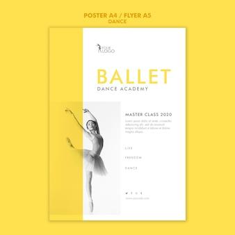 Modèle de flyer de académie de danse