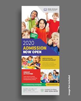 Modèle de flyer d'admission à l'école pour enfants