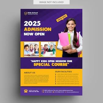 Modèle de flyer de admission de l'éducation des enfants