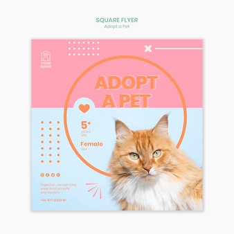 Modèle de flyer adopter un animal de compagnie