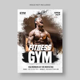 Modèle de flyer et affiche de fitness gym
