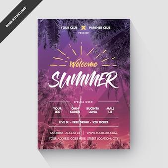 Modèle de flyer ou affiche pour la fête de l'été
