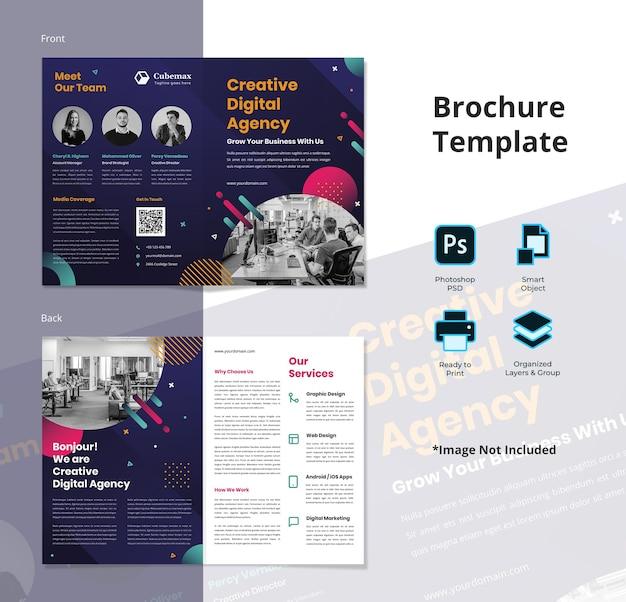Modèle de flyer de agence créative