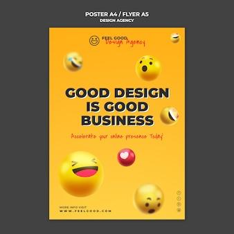 Modèle de flyer d'agence de design
