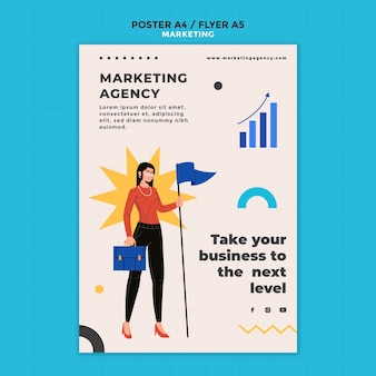 Modèle de flyer d'agence de marketing