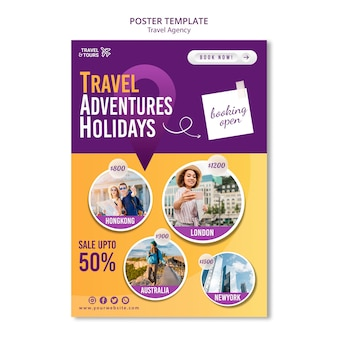 Modèle de flyer d'agence de voyage