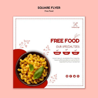 Modèle de flyer alimentaire gratuit