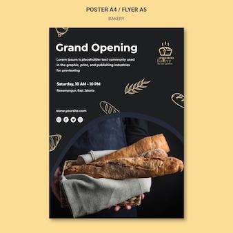 Modèle de flyer d'annonce de boulangerie