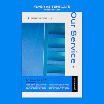 Modèle de flyer d'architecture