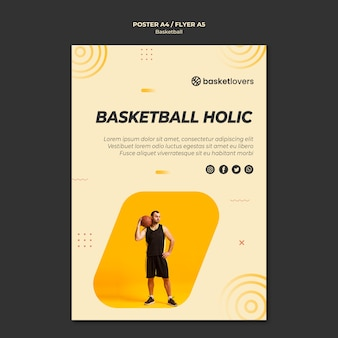 Modèle de flyer de basket-ball holique