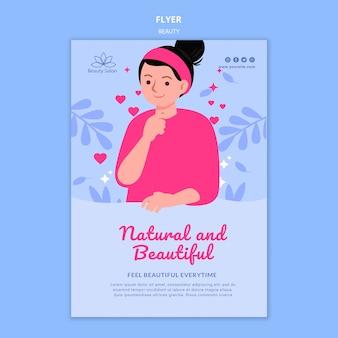 Modèle de flyer de beauté illustré