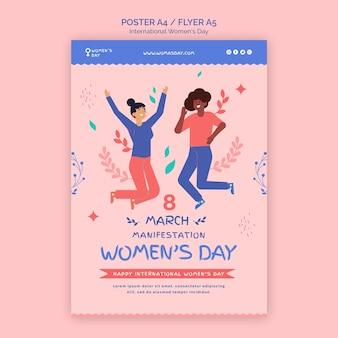 Modèle de flyer de la belle journée des femmes