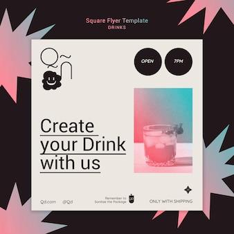 Modèle de flyer de boissons