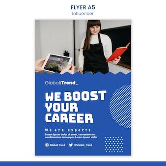 Modèle de flyer de boost de carrière