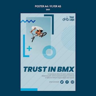 Modèle de flyer de boutique bmx