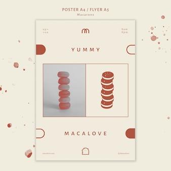 Modèle de flyer de boutique de macarons