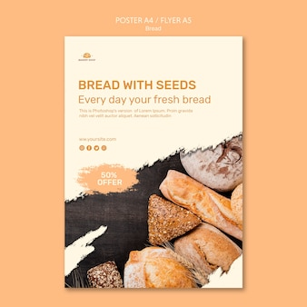 Modèle de flyer de boutique de pain