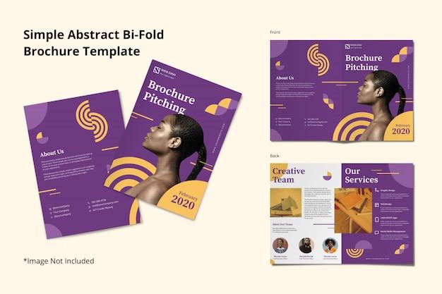 Modèle de flyer de brochure créative abstraite