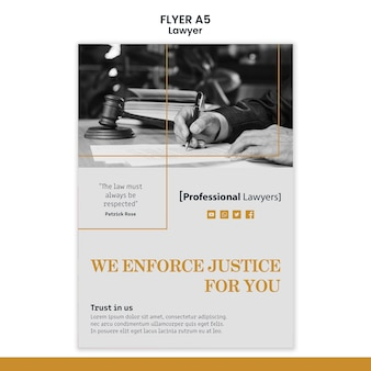 Modèle de flyer de cabinet d'avocats