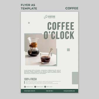 Modèle de flyer café heure