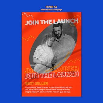 Modèle de flyer de campagne de produit avec photo