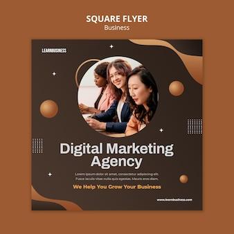 Modèle de flyer carré business avec photo
