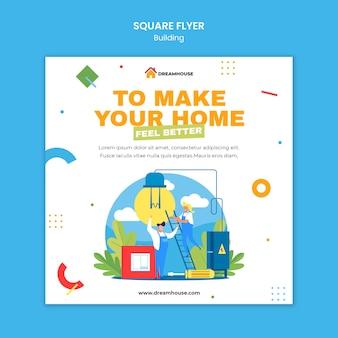 Modèle de flyer carré immobilier