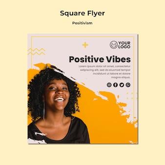 Modèle de flyer carré positivisme