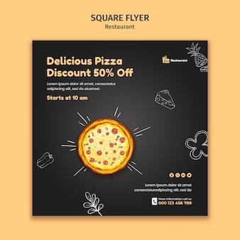 Modèle de flyer carré de restaurant