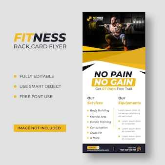 Modèle de flyer de carte de fitness dl
