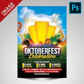 Modèle de flyer de célébration de la fête de la bière