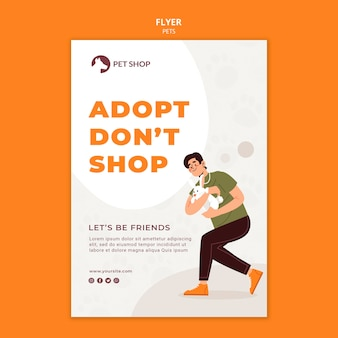 Modèle de flyer de concept d'adoption