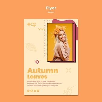 Modèle de flyer concept automne